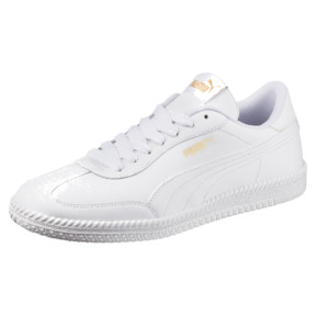 Thumbnail 1 of Astro Cup Leather Trainers, Puma White-Puma White, medium