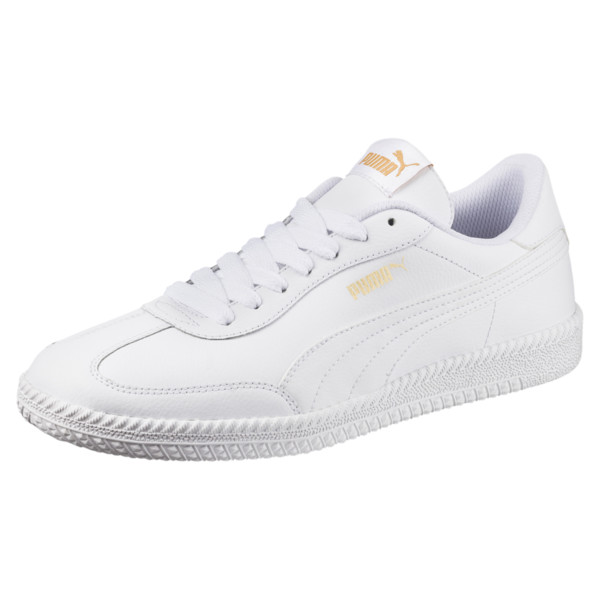Astro Cup Leather Trainers, Puma White-Puma White, large