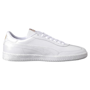 Thumbnail 3 of Astro Cup Leather Trainers, Puma White-Puma White, medium