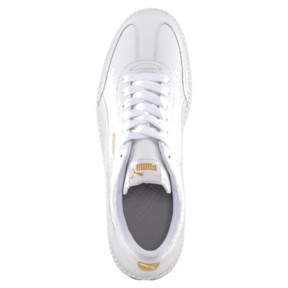 Thumbnail 5 of Astro Cup Leather Trainers, Puma White-Puma White, medium