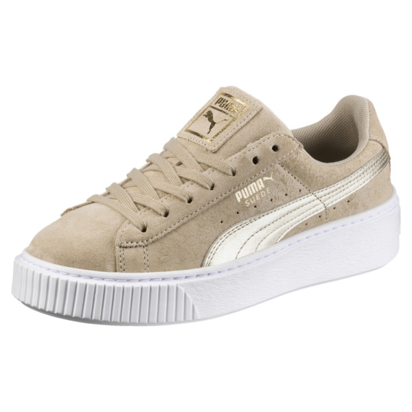 b431007f9 Suede Platform Metallic Safari Women s Sneakers