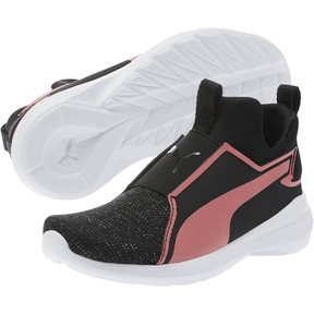 c79be9808dac Thumbnail 2 of Rebel Mid Gleam Little Kids' Shoes, Puma Black-Rapture Rose