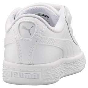 Thumbnail 4 of Basket Classic Baby Trainers, Puma White-Puma White, medium