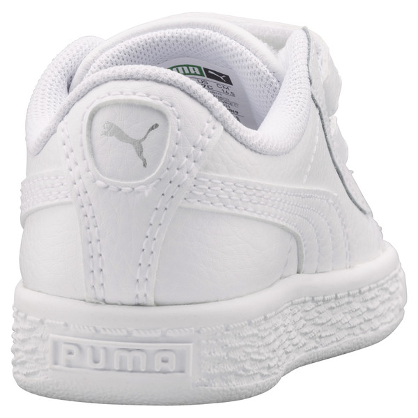 Basket Classic Baby Trainers, Puma White-Puma White, large