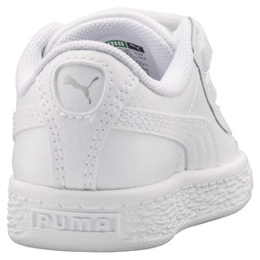 Thumbnail 4 of Basket Classic AC Toddler Shoes, Puma White-Puma White, medium