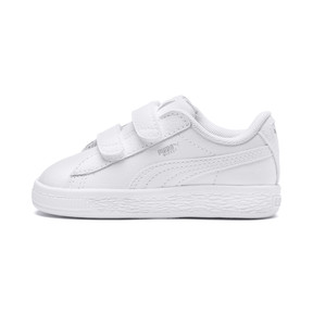 Thumbnail 1 of Basket Classic Baby Trainers, Puma White-Puma White, medium