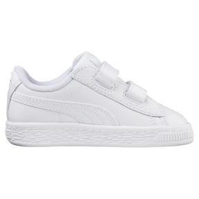 Thumbnail 3 of Basket Classic Baby Trainers, Puma White-Puma White, medium