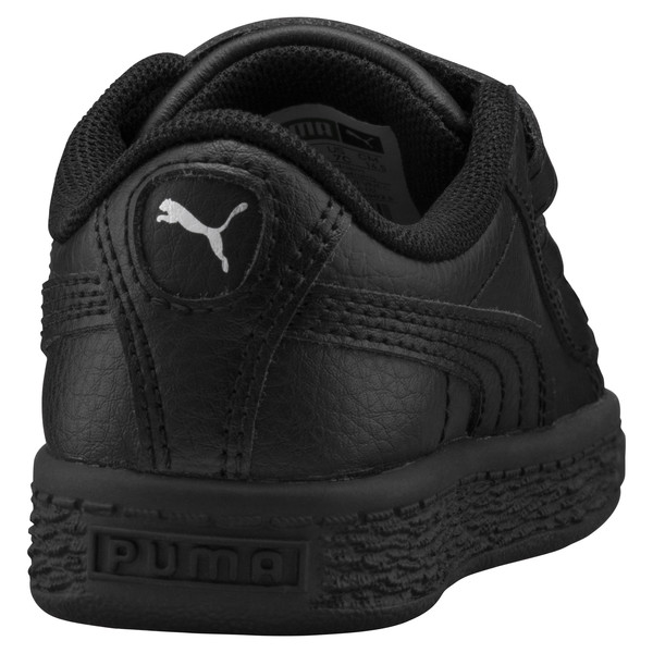 Basket Classic Baby Trainers, Puma Black-Puma Black, large