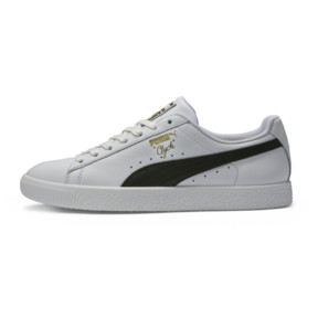 Thumbnail 3 of Clyde Core Foil Men's Sneakers, White- Black-Puma Team Gold, medium