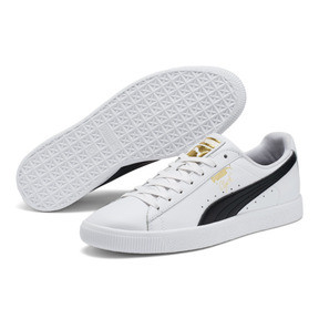 Thumbnail 2 of Clyde Core Foil Men's Sneakers, White- Black-Puma Team Gold, medium