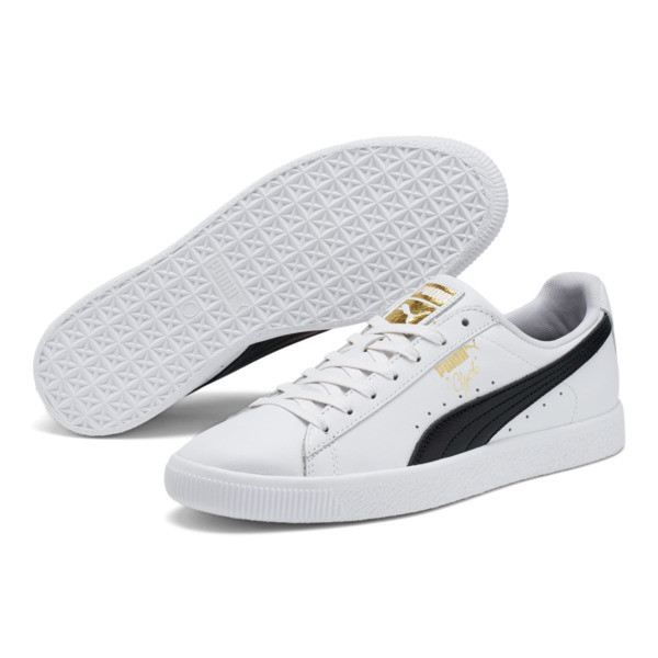 Clyde Core Foil Men's Sneakers, White- Black-Puma Team Gold, large
