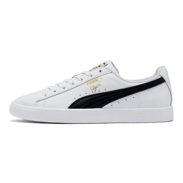 new york 44e39 10bb0 Clyde Core Foil Men s Sneakers, White- Black-Puma Team Gold, large