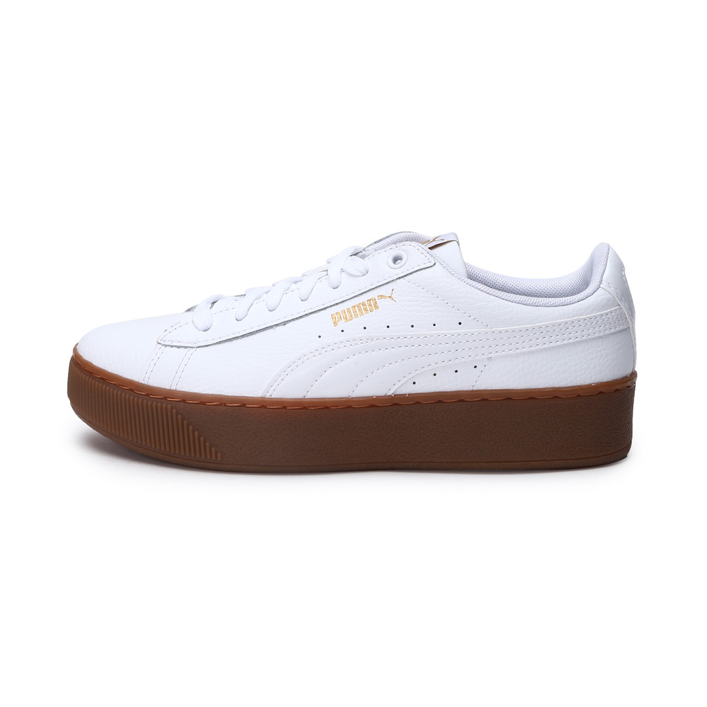 Image Puma Vikky Platform Leather Women's Trainers #1