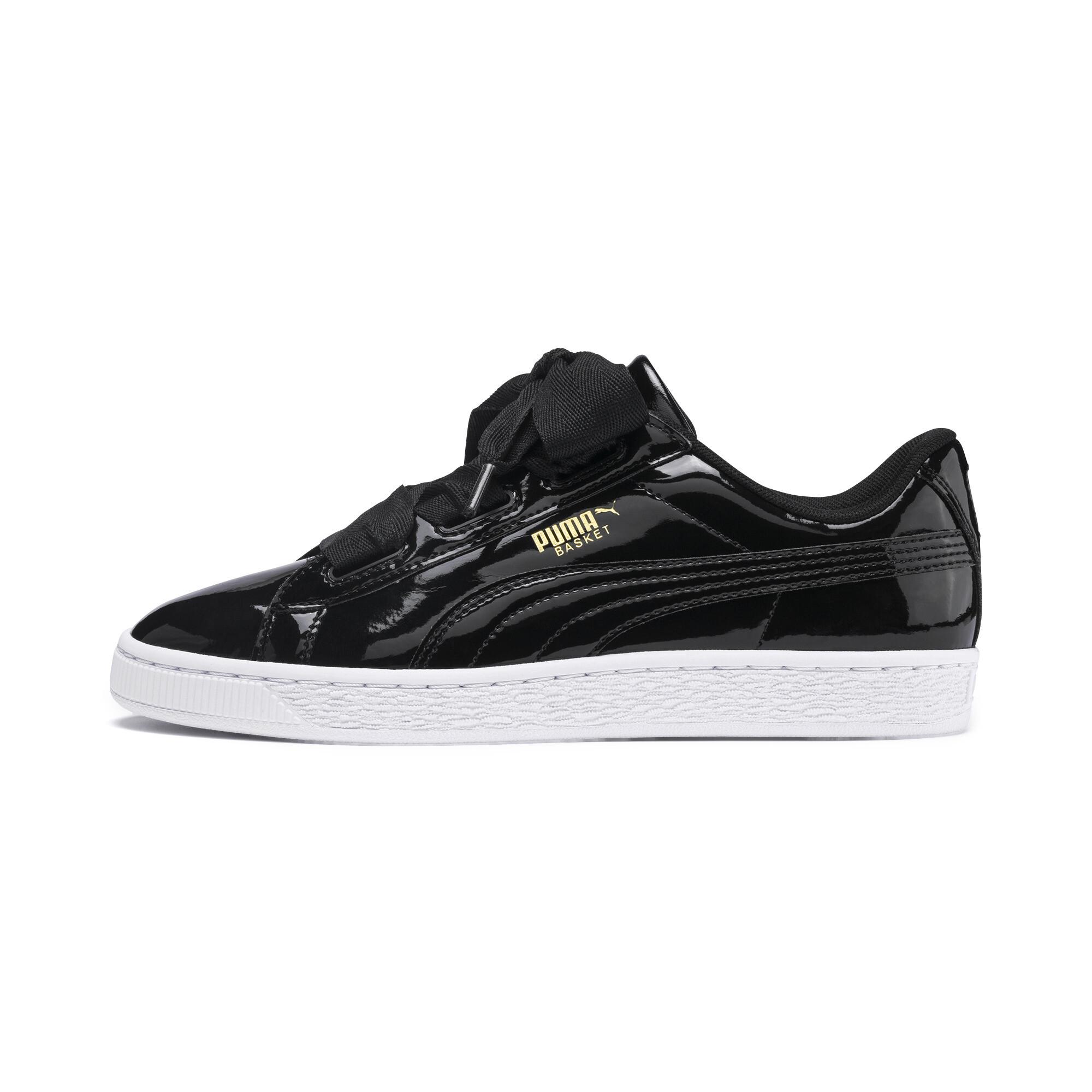 Official Puma Store: PUMA Basket Heart Patent Sneakers JR Girls Shoe Kids |