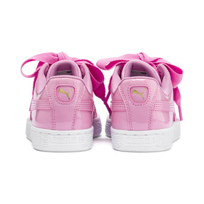 Thumbnail 3 of Basket Heart Patent Sneakers JR, PRISM PINK-Pcoat-Gold-White, medium