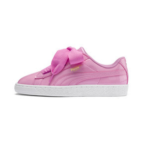 Thumbnail 1 of Basket Heart Patent Sneakers JR, PRISM PINK-Pcoat-Gold-White, medium