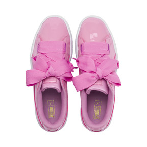 Thumbnail 6 of Basket Heart Patent Sneakers JR, PRISM PINK-Pcoat-Gold-White, medium