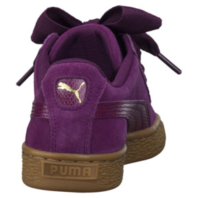 Thumbnail 4 of Suede Heart Snake JR Sneakers, Dark Purple-Dark Purple, medium