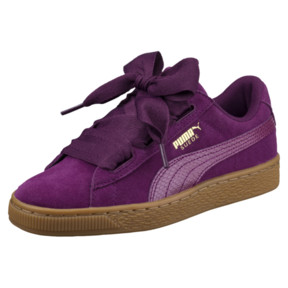 Thumbnail 1 of Suede Heart Snake JR Sneakers, Dark Purple-Dark Purple, medium