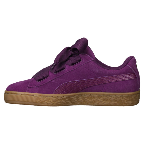 Suede Heart Snake JR Sneakers, Dark Purple-Dark Purple, large