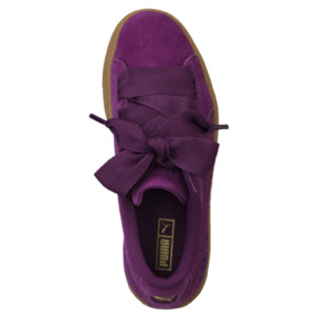 Thumbnail 5 of Suede Heart Snake JR Sneakers, Dark Purple-Dark Purple, medium