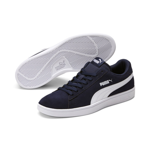 PUMA Smash v2 Sneakers, Peacoat-Puma White, large