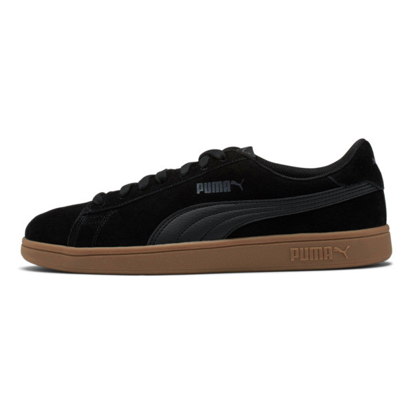The PUMA Smash v2 is the latest update to the PUMA Smash icon. The tennis-inspired silhouette features a soft suede upper and classic rubber sole. Totally classic. | PUMA Smash v2 Sneakers in Black, Size 8