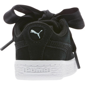 Thumbnail 4 of Suede Heart Kids' Sneakers, Puma Black-Puma White, medium