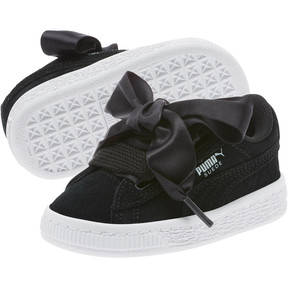Thumbnail 2 of Suede Heart Kids' Sneakers, Puma Black-Puma White, medium