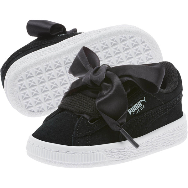 Suede Heart Kids' Sneakers, Puma Black-Puma White, large