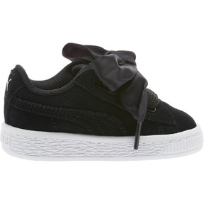 Thumbnail 3 of Suede Heart Kids' Sneakers, Puma Black-Puma White, medium