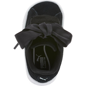 Thumbnail 5 of Suede Heart Kids' Sneakers, Puma Black-Puma White, medium
