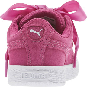 Thumbnail 4 of Suede Heart Preschool Sneakers, Rose Violet-Puma White, medium