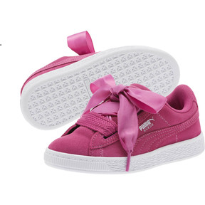 Thumbnail 2 of Suede Heart Preschool Sneakers, Rose Violet-Puma White, medium