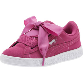 Thumbnail 1 of Suede Heart Preschool Sneakers, Rose Violet-Puma White, medium
