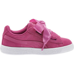 Thumbnail 3 of Suede Heart Preschool Sneakers, Rose Violet-Puma White, medium