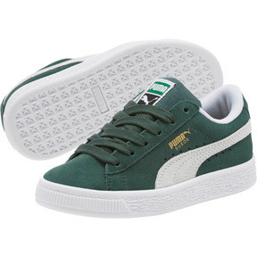 Thumbnail 2 of Suede Classics Preschool Sneakers, Pineneedle-Puma White, medium