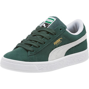 Thumbnail 1 of Suede Classics Preschool Sneakers, Pineneedle-Puma White, medium