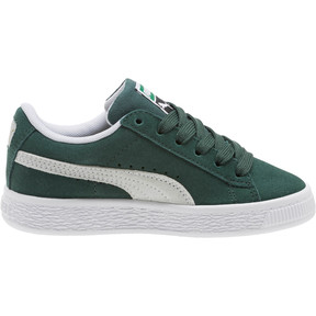 Thumbnail 3 of Suede Classics Preschool Sneakers, Pineneedle-Puma White, medium
