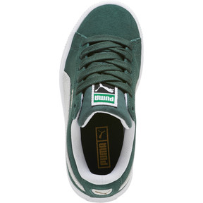 Thumbnail 5 of Suede Classics Preschool Sneakers, Pineneedle-Puma White, medium