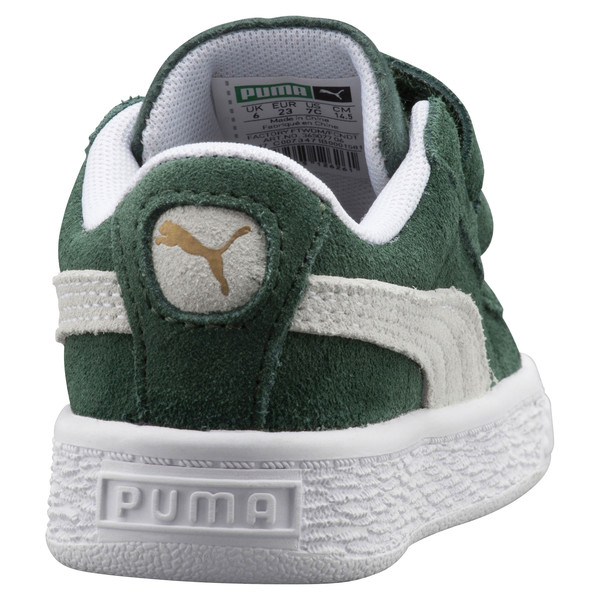 Suede Classic Kids' Trainers, Pineneedle-Puma White, large