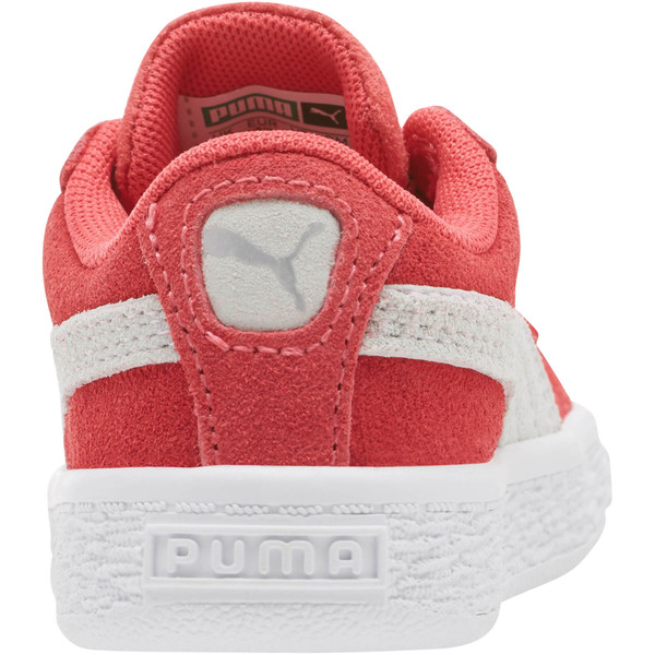 Suede Classic Toddler Shoes, Paradise Pink-Puma White, large