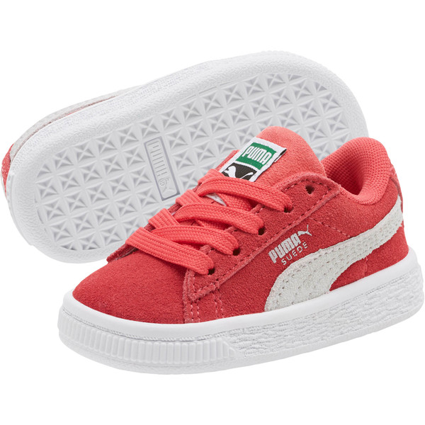 Suede Classic Sneakers INF, Paradise Pink-Puma White, large