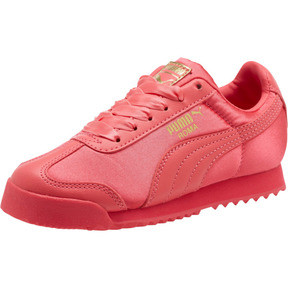 Thumbnail 1 of Roma Satin Preschool Sneakers, Paradise Pink-Puma Team Gold, medium
