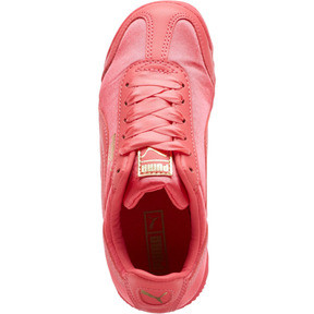 Thumbnail 5 of Roma Satin Preschool Sneakers, Paradise Pink-Puma Team Gold, medium