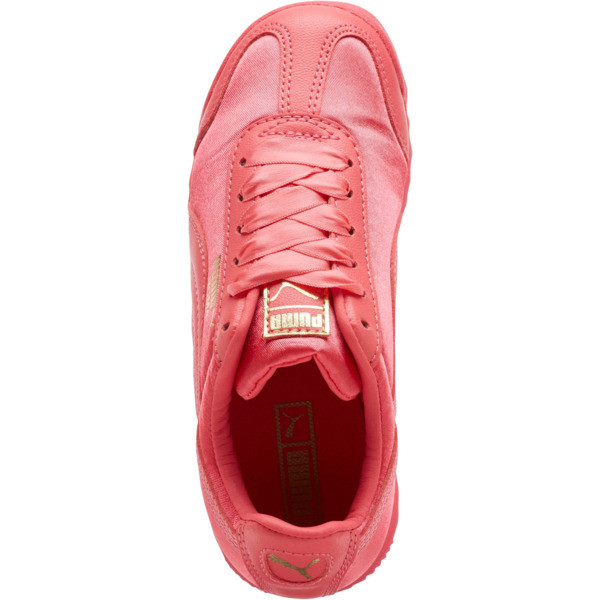 Roma Satin Preschool Sneakers, Paradise Pink-Puma Team Gold, large