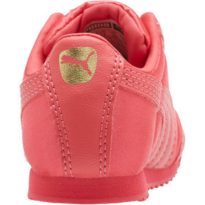 Thumbnail 4 of Roma Satin Infant Sneakers, Paradise Pink-Puma Team Gold, medium