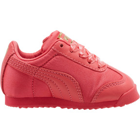 Thumbnail 3 of Roma Satin Infant Sneakers, Paradise Pink-Puma Team Gold, medium