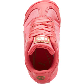 Thumbnail 5 of Roma Satin Infant Sneakers, Paradise Pink-Puma Team Gold, medium