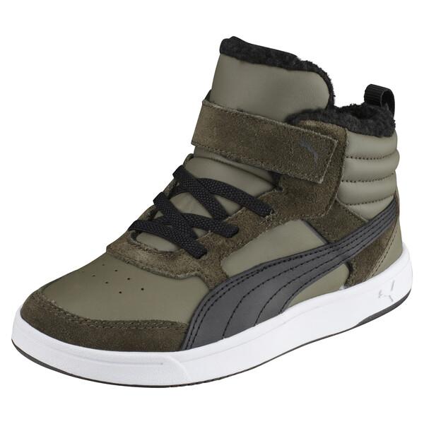 e8e2ac82f7f Hoge Rebound Street v2 sportschoenen voor kinderen, Olive Night-Puma Black,  large